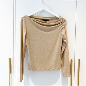 Lafayette 148 New York Gold sparkle top